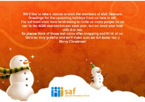 seasons greetings from saf